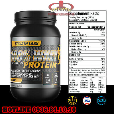 thành phần Goliath Labs Whey Protein
