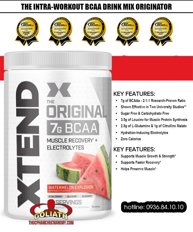 Giới Thiệu Scivation Xtend BCAA 90 servings