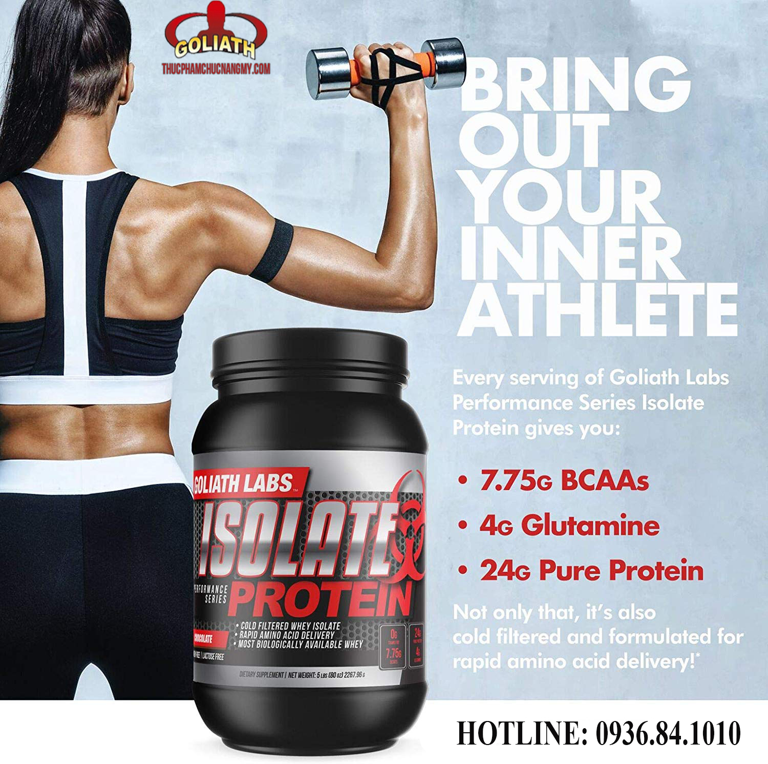 Công dụng của Goliath Labs Isolate Protein 5 Lbs