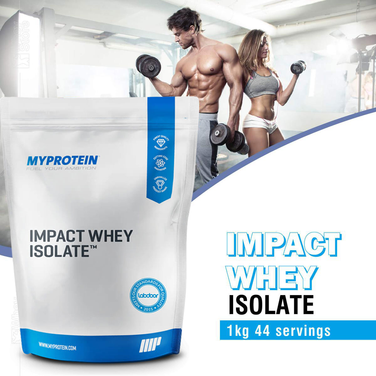 Impact Whey Isolate 1Kg (40 servings) - Sữa Tăng Cơ Giảm Mỡ