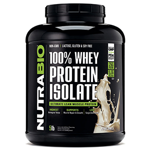 Nutrabio 100% Whey Protein Isolate 5lbs